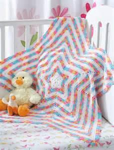 Bernat Baby Blanket Star Pattern