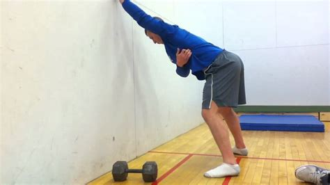 stretch leaning arm elevated lat wall exercises body
