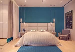 Peinture Bleu Ciel : couleur de peinture pour chambre tendance en 18 photos ~ Melissatoandfro.com Idées de Décoration