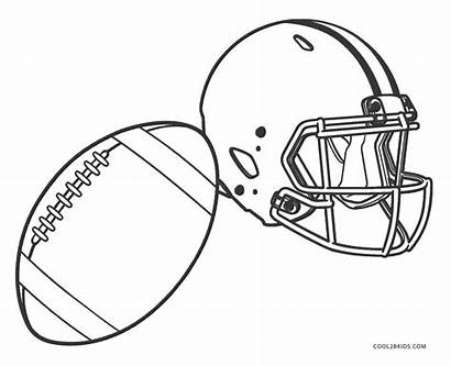 Football Coloring Pages Helmets Cool2bkids Printable Col