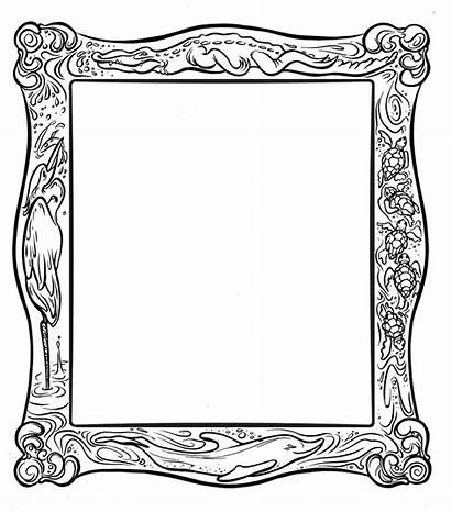 Frame Coloring Pages Frames Printable Clipart Conservation