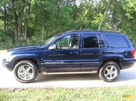 blue jeep grand cherokee 2004 2004 midnight blue pearl jeep grand cherokee overland 4x4