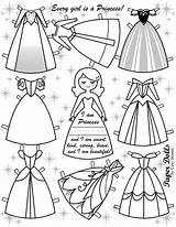 Paper Doll Dolls Disney Printable Princess Template Templates Frozen Crafts Princesses Cheapskateprincess Toys sketch template