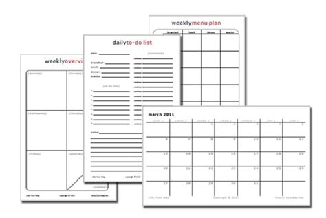 sheet printable planning pages life