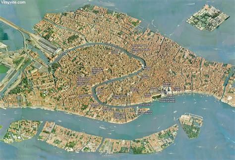 venise carte plan map venice venezia