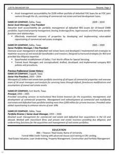 real estate development manager resume sle resume asset management sales management lewesmr