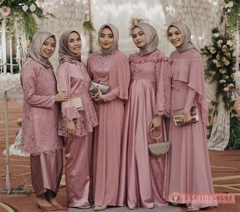 inspirasi model kebaya brokat hijab muslimah modern terbaru fashionsistaco model model