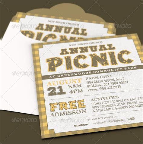 picnic invitations psd eps ai word