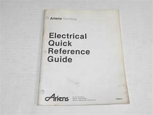 Ariens Electrical Quick Reference Guide Service Repair