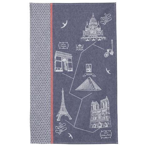 Coucke Monuments de Paris French Jacquard Dish Towel