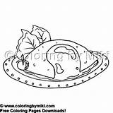 Coloring Omelet Delicious Meals Coloringbymiki 2058 Breakfast Yummy Colouring 飲み物 食べ物 Drink sketch template