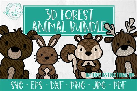 We provide a large selection of free svg files for silhouette, cricut and other cutting machines. 3D Forest Animal Bundle, Layered Mandala Animals, SVG, DXF ...