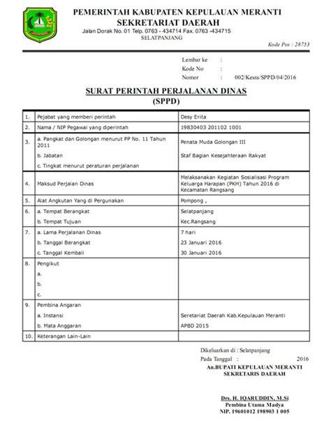 Surat Sppd by Aplikasi Sppd Terbaru