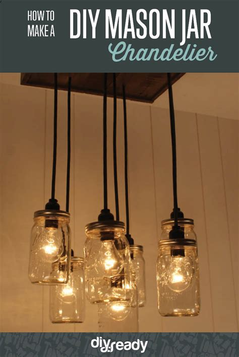 diy mason jar chandelier diy ready
