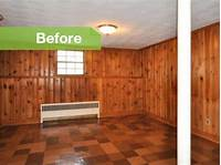 how to paint paneling Knotty to Nice: Painted Wood Paneling Lightens a Room's Look