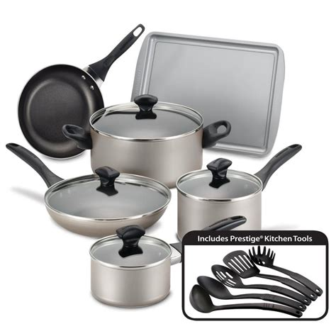 piece nonstick cookware set farberware cookware