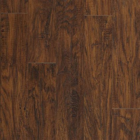 laminate wood flooring hickory shop pergo max 5 23 in w x 3 93 ft l manor hickory handscraped wood plank laminate flooring at