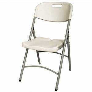 Moulded folding indoor outdoor off white plastic banquet for Folding banquet chairs