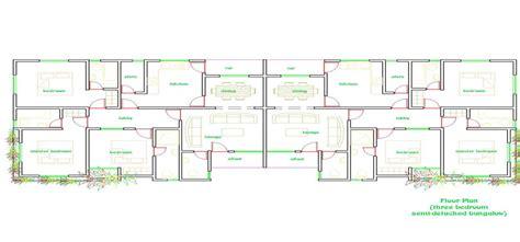 bungalow floorplans house plans semi detached flats house plans