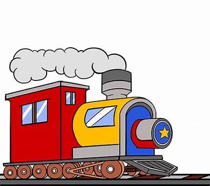 Train Clipart Drawing Cartoon Engine Silhouette Transparent