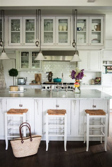 hanging cabinets cottage kitchen kimberly taylor images