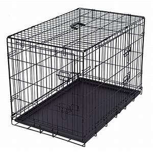 Best pet black 36 pet folding dog cat crate cage kennel for Best deals on dog kennels