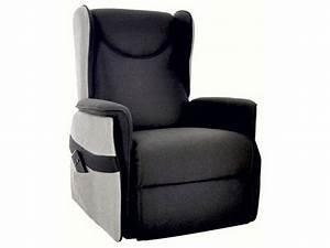 Fauteuil Electrique Conforama : fauteuil relaxation lectrique en tissu smooth coloris noir gris vente de tous les fauteuils ~ Teatrodelosmanantiales.com Idées de Décoration