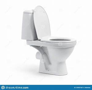 Open Toilet Bowl Isolated On White Background. File ...