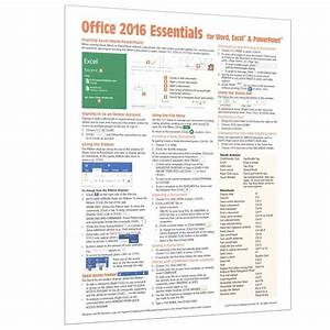 Office 2016 Cheat Sheet  Quick Reference Guide Card