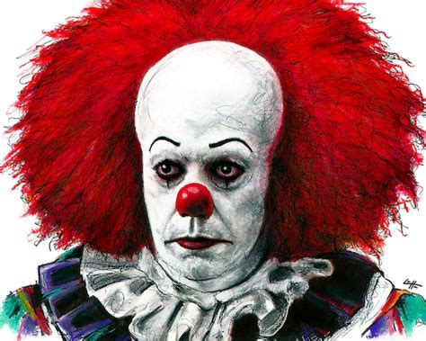 Print 8x10 Pennywise Clown Stephen King Horror