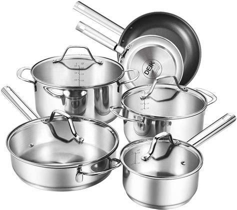 cook delicious food buy deik  piece stainless steel nonstick cookware set