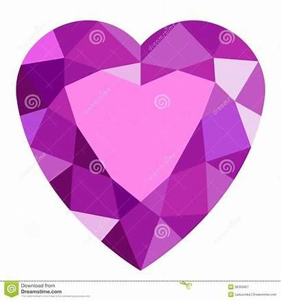 Heart Clipart Pink Gemstone Gem Stone Background