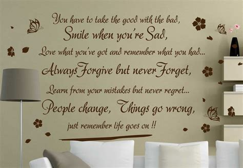 Transfers For Kitchen Walls by Life Goes On Vinyl Wall Quote Art Stickers Transfer Decals
