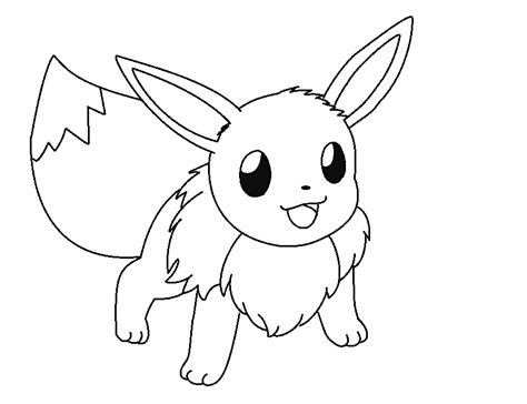 pokemon pictures  eevee coloring home