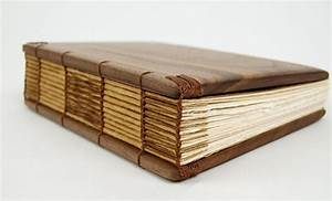 Custom Made Handmade Journal - Unique Wood Book Black