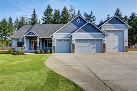 house plans with rv garage attached 2628 rambler plan with an attached rv garage exteriors