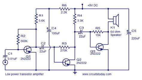 Swahiliteknolojia Low Power Transistor Amplifier Circuit