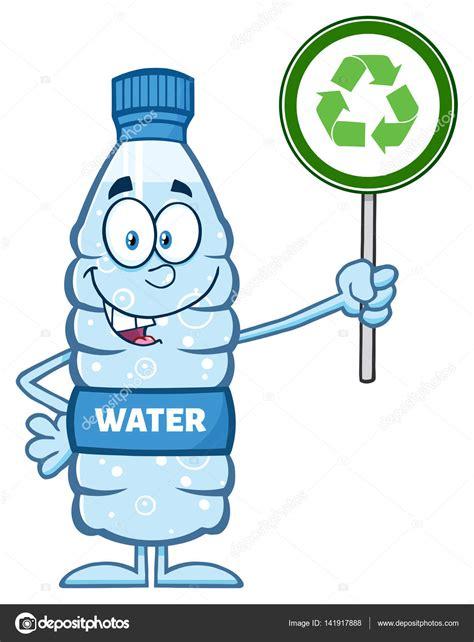 Dibujos animados de botella de plástico Vector de stock © HitToon