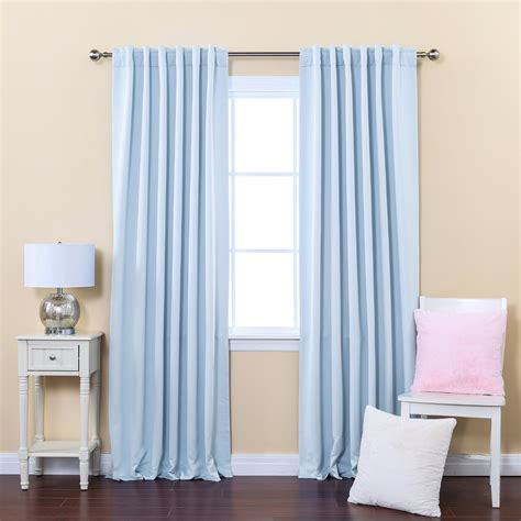 Blue Dotty Curtain Fow White Wooden Window Using Blue