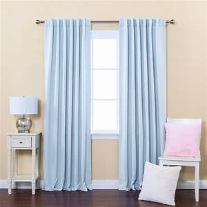 blue dotty curtain fow white wooden window using blue With light blue curtains for living room