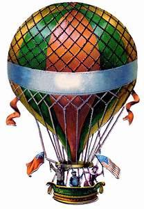 antique graphic air balloon steunk the