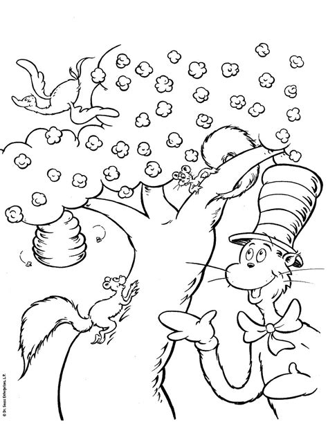 Cat In The Hat Coloring Pages Free Coloring Home