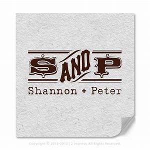 monogram stamps vintage two letter personalized by 2impress With monogram letter stamp
