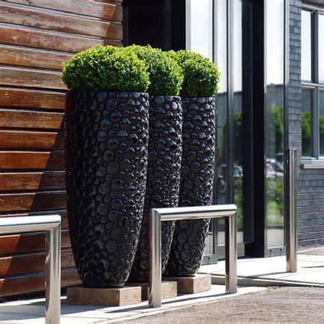 FO-226 outdoor round fiberglass flower pos for home garden decorate