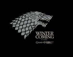 Camiseta Chica Juego De Tronos. Casa Stark, Logo