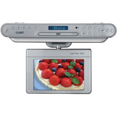 kitchen cabinet tv dvd cd player radio tvaudiomarkt coby ktfdvd7093 7 inch the cabinet 9903