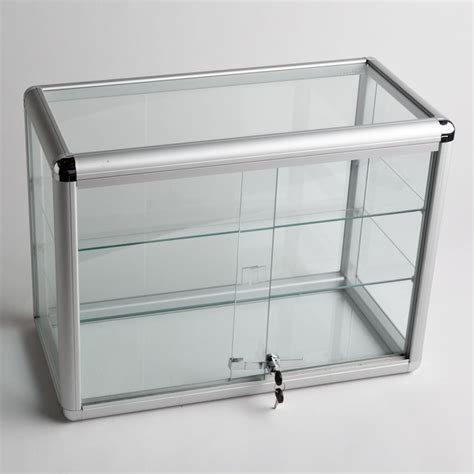 Glass Display Case With 2 Shelves A B Store Fixtures