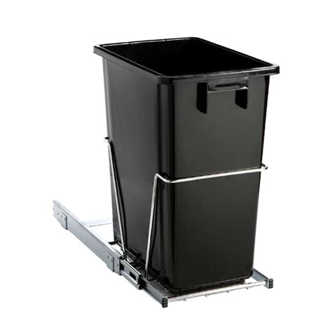 in cabinet trash can black 8 gal the cabinet pull out trash can the