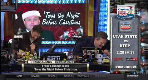 frank caliendo reads night  christmas