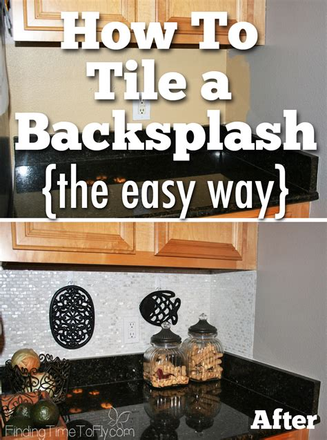 how to put up kitchen backsplash how to tile a backsplash using simple mat finding time 8837